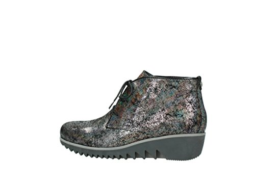 Boots Dusky up Suede Comfort Metallic Grey Wolky Lace Winter 40280 tCvSnq