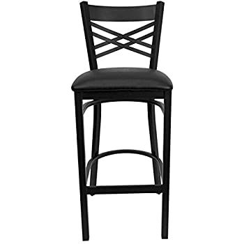 flash furniture hercules series black back metal restaurant barstool black