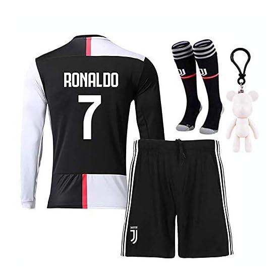 Maillot Manches Longues CR7 N°7 Cristiano Ronaldo Juventus 2019-2020 pour Enfant Garçon
