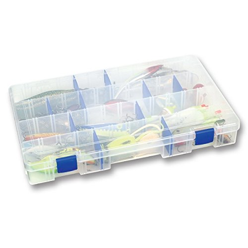 Flambeau Tackle (Flambeau 5007 Tuff Tainer See-Through Storage Box, 4 Fixed Compartments, 15 Zerust)