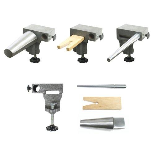Bench Anvil Combo Kit- Bracelet and Ring Mandrels, Anvil - SFC Tools - 13-132 (Metal Thumb Slotted Screws)