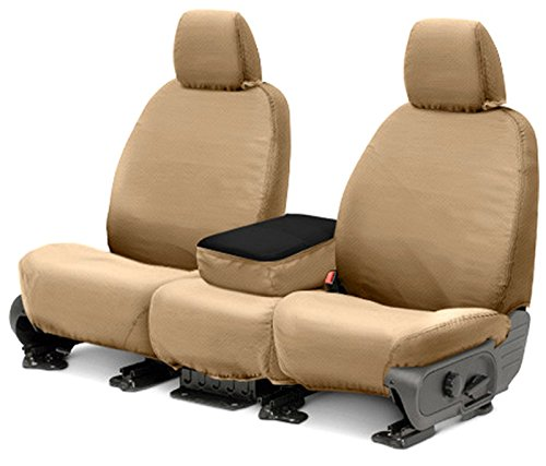 Covercraft SeatSaver Front Row Custom Fit Seat Cover for Select Nissan Pathfinder Models SS2466PCTN Polycotton Tan