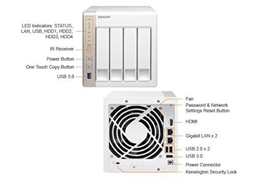 QNAP TS-451+ (8GB RAM version) 4-Bay Next Gen Personal Cloud NAS