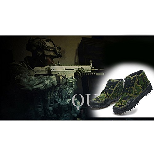 Unisex Casual Breathable Camouflage Army Trainer Shoes Durable Non-Slip High-Top Sneakers Outdoor Labor Shoes Trekking Hiking Boots Combat Boots 2# kfx7YzO