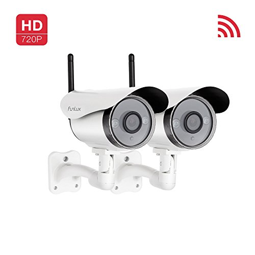 Funlux 2 x 720P HD Smart Wireless Security Camera IP Outdoor Surveillance Camera by Funlux