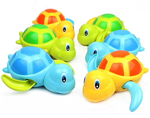 6 Pack Swimming Turtles Floating Wind-Up Bath Water Toy Party Favors Liberty Imports