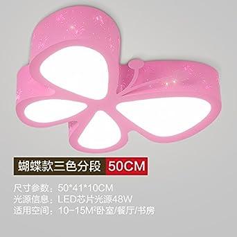 BCC Kinderzimmer LED Deckenleuchte Schlafzimmer Kind Lampe Warm Cartoon  Ideen, Schmetterling Rosa Farbe)