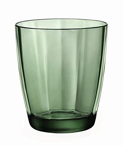 - Bormioli Rocco Pulsar Double Old Fashioned Glasses, Forest Green, Set of 6