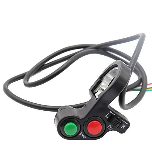 Vosarea Motorcycle Turn Signal Light Switch Horn Headlamp Button 12V (Black)
