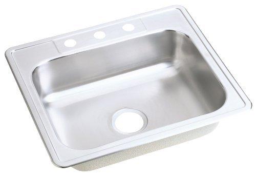 22 Gauge Stainless Steel 25 X 22 X 6.5625 Single Bowl Top Mount Kitchen Sink