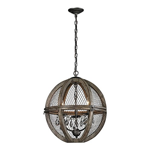 Dimond Home Renaissance Invention 3 Light Chandelier in Aged Wood - Bronze Renaissance Three Light