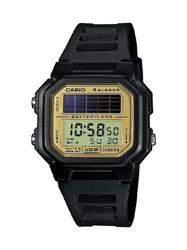 Casio CASIO Collection Men - Reloj digital de caballero de cuarzo con correa de resina negra (alarma, cronometro, luz, solar) - sumergible a 50 met