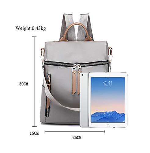 Tipo Salida Diario Auriculares Escolares Casual Resistente Sólido Fashion Color Backpack Gris Grande Para Comodas Xiuy Mochilas Mujeres Bolsas Simple zqpH5xSwn