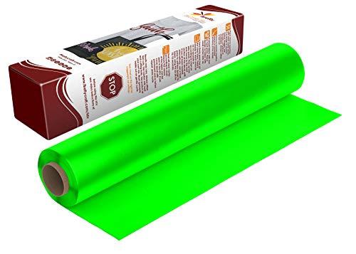 Firefly Craft Neon Green Heat Transfer Vinyl | Fluorescent Green HTV Vinyl | Bright Green Iron On Vinyl for Cricut and Silhouette | Heat Press Vinyl for Shirts - 12 x 20