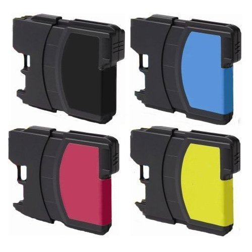 5 Pack Compatible (2 Black + 1 each Color) for Brother LC61 DCP 165C MFC 250C 255CW 290C 295CN 385CW 490CW 585CW 790CW 5490CW 5890CW 6490CW Dcp 585cw Colour