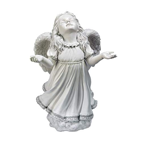 Angel Figurines - In God's Grace Guardian Angel Statue - Garden Angel Figure (Renewed) ()