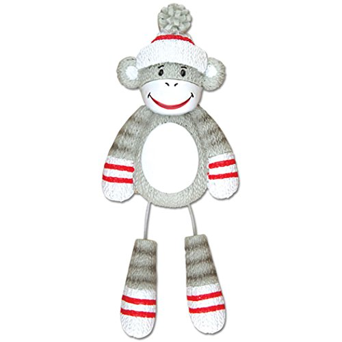 Personalized Stuffed Monkey Christmas Tree Ornament 2019 - Cute Traditional Grey Red Sock Toy Dangling Leg Zoo Animal Collection Adventure Forest Nursery Fashioned Gift Year - Free Customization]()