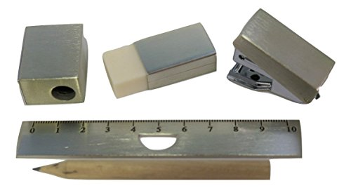 Cool Mini Stationery Set In A Stainess Steel Case (Stapler