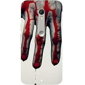 casotec cepillo de mano sangre Scary diseño Hard back Case Cover for Motorola Moto X Play