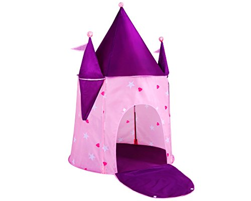 """Alvantor Kids Princess Crystal Castle, Pop Play Tents Indoor Outdoor Great Game and Toy Gift for Children Fun, Crystle, 35""""x35""""x51"""""""