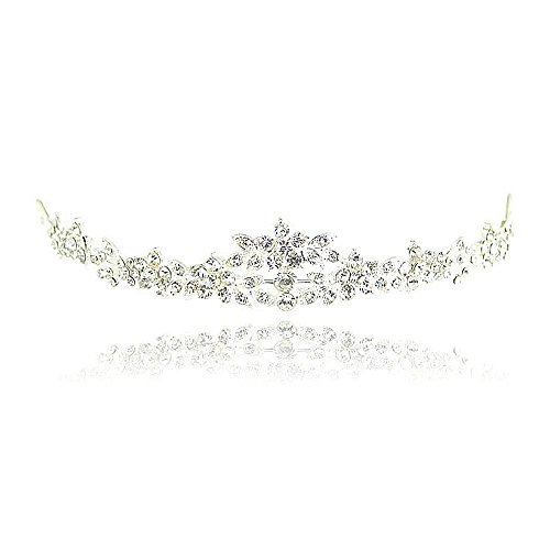Iebeauty? Rhinestone CRYSTAL CROWN HAIR COMB Bride Wedding Party Hair Jewelry (#14)