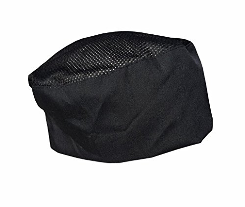 - CHEFSKIN COOL MAX Beanie Mesh Top Baker Cook Chef Hat Ultra Light and Cool also good for surgeons Drs MDs (SET of 3 BLACK (best value))