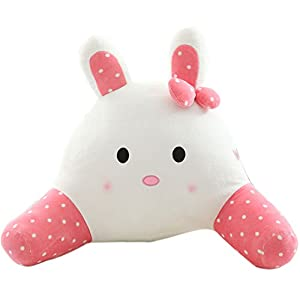 Cute Reading Pillow : Amazon.com: Mlotus Soft Plush Kids Bed Rest Pillows with Arms Cute Rabbit Bedrest Reading Pillow ...
