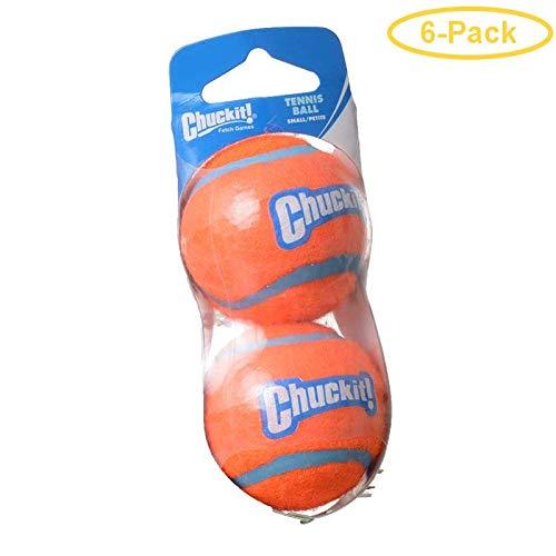 Chuckit! Tennis Balls Small Ball - 2 Diameter (2 Pack) - Pack of 6