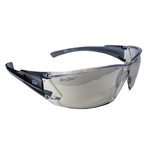 ArcOne SE-3002 Protective Glasses with Indoor/Outdoor Lens and Clear Frame and Clear Mirror Finish, (10 Pack)
