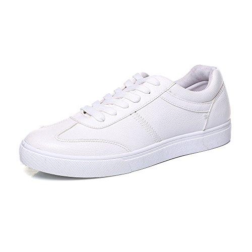 all'abrasione Resistente Sneakers Sunny antiscivolo casual Color EU 42 Nero in Mocassini in piatte sportive basse Bianca Scarpe uomo Dimensione PU pelle amp;Baby da sintetica aq8awT