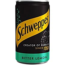 Schweppes Bitter Lemon Mini Can 150ml (Pack of 6)