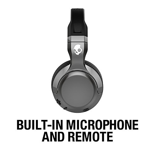 Skullcandy Hesh 2 Bluetooth Wireless Over-Ear Headphones with Microphone, Supreme Sound and Powerful Bass, 15-Hour Rechargeable Battery, Soft Synthetic Leather Ear Cushions, Black/Silver by Skullcandy (Image #3)
