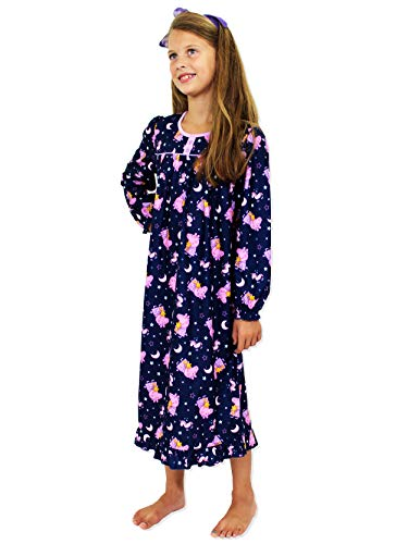 (Peppa Pig Toddler Girls Flannel Granny Gown Nightgown Pajamas (2T, Navy))