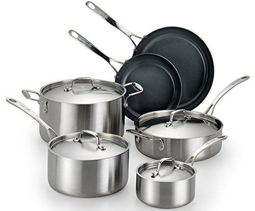 Lagostina® Axia Tri-Ply Stainless Steel 10-Pc. Set + FRE