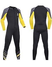 ZCCO Çocuk Dalgıç Kıyafeti, 2,5 mm Neopren Termal Mayo, Genç Erkek ve Kız Tek Parça Islak Takım Sıcak Uzun Kollu Mayo, Dalış, Yüzme, Sörf için