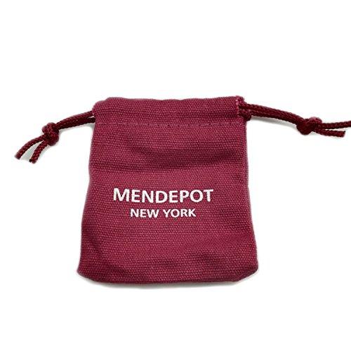 MENDEPOT Men Shirt Collar Stays Platinum Plated Collar Stiffener (1 PAIR) by MENDEPOT (Image #3)