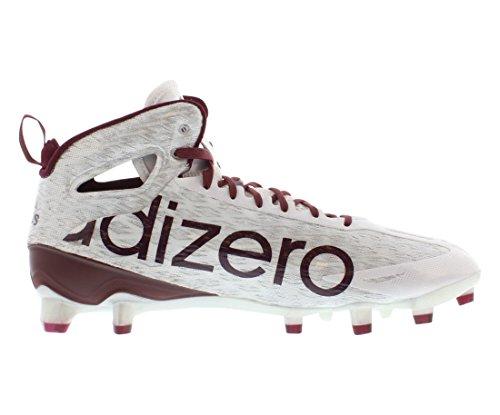 Tacchetti Da Calcio Adidas Mens Adizero 5 Stelle A Metà Bianco / Marrone