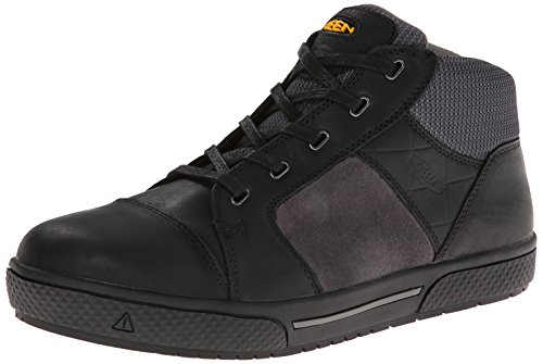 KEEN Utility Men's Destin Mid Steel Toe Shoe,Black/Gargoyle,10 EE US by KEEN Utility