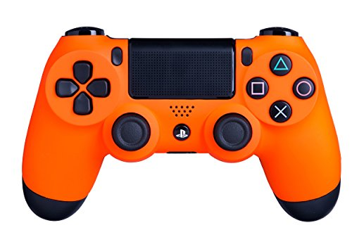(DualShock 4 Wireless Controller for PlayStation 4 - Soft Touch Orange PS4 - Added Grip for Long Gaming Sessions - Multiple Colors Available)