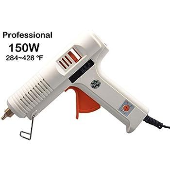 Dutiger 8609080 Glue Gun 150W Hot Melt Glue Gun Adjustable Temperature High Temp and Low Temp Glue Gun with Interchangeable Nozzle for Crafts DIY Projects Home