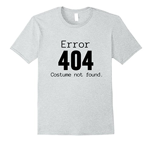 Last Minute Men Costume Ideas (Mens 404 Costume Not Found, Last Minute Halloween Costume Shirt Large Heather Grey)