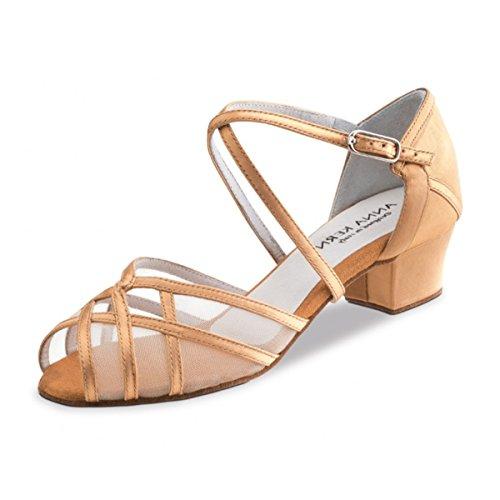 Anna Kern - Mujeres Zapatos de Baile 520-35 - Satén Bronce - 3,5 cm Bronce
