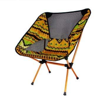 一番人気物 HHH Oudoor 屋外折りたたみ椅子ムーンチェア超軽量ポータブルアルミ釣り椅子キャンプ折りたたみテーブルと椅子レジャーキャンプチェアレジャーチェアビーチチェア B07Q98Y28C (Color : : Yellow) Oudoor Yellow B07Q98Y28C, ハナイズミマチ:2008f852 --- arianechie.dominiotemporario.com