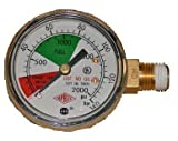 Regulator Gauge, 0-2000, Taprite, Left Hand Thread sold by Kegconnection