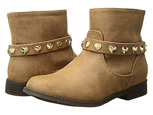 Michael Kors Girl's Little Kid & Big Kid Emma Melo Studded Bootie Caramel 5M (Michael Kors Boots For Big Kids)