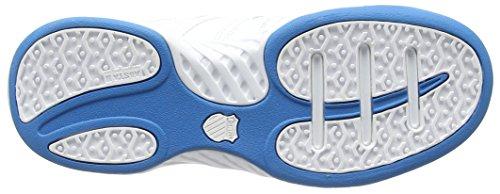 K-Swiss Calabasas Omni - Zapatillas para hombre Blanco/Azul (HYL BLUE/FIERY RED)