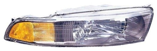 » Compatible 2002-2003 Mitsubishi Galant Front Headlight Headlamp Assembly Front Housing/Lens / Cover - Right (Passenger) Side MR972844 MI2503122 Replacement for Mitsubishi ()