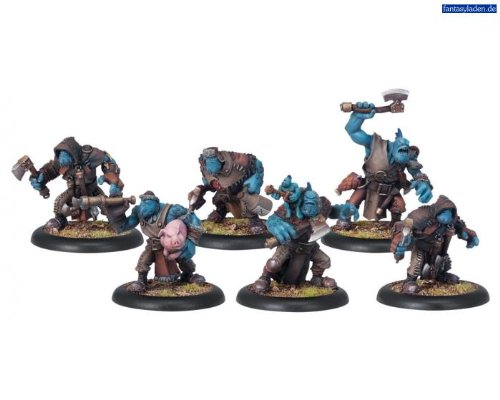 (PIP71048 Trolkin Scouts Unit Trollblood Hordes Miniature Game by Privateer Press )