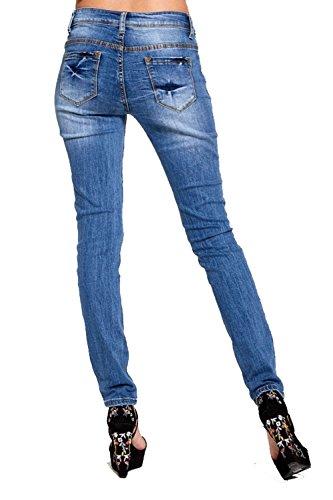 Donna Divadames Divadames blue Fc6243 Jeans Donna Jeans TIr0Tx