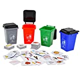 deAO Recycling Waste Classification Board Game Containers Set Educational Activity for Children Family Game